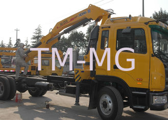 Mobile Commercial 6.3T Knuckle Boom Truck  Mounted Crane with hydraulic arms  For Safety Transport