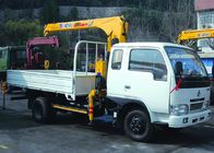 Cina Telescopic Boom Truck Mounted Crane 2.1T For Safety Transport Materials perusahaan