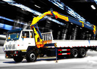 Cina Durable 8T Knuckle Boom Truck Mounted Crane , 40 L/min Truck With Crane perusahaan
