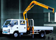 Cina Durable Mobile Folding Truck Articulated Boom Crane , 3200kg Truck Mounted Crane pabrik
