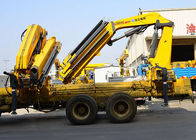 Cina 14T Mobile cargo crane truck knuckle boom Safety Transportation pabrik