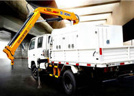 Cina Durable Lifting Knuckle Boom crane truck mounted 7.5m Max Lifting Height pabrik