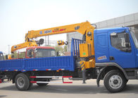 Cina Durable Heavy Things Lifting Telescopic Boom Truck Mounted Crane , 6.3T pabrik