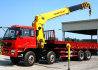 Cina 16 Ton Telescopic Boom Truck Mounted Crane With 80 L/min , Heavy Duty pabrik