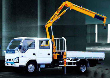 Durable Mobile Folding Truck Articulated Boom Crane , 3200kg Truck Mounted Crane