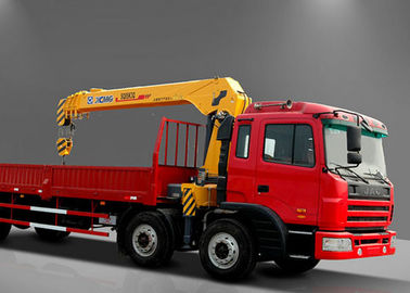 Move Fast Truck Loader Crane , Hydraulic 8 ton truck with crane