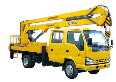 2T Lifting Kapasitas XCMG Bucket mengartikulasikan booming truk 360 Slewing Angles